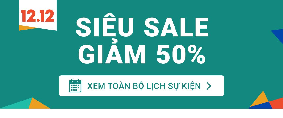 Siêu sale giảm 50% theo ngành hàng
