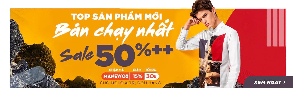 Thời trang Nam - Top các sản phẩm mới bán chạy nhất Sale 50% ++