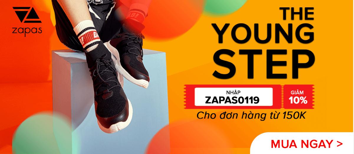 Giảm 10%, tối đa 30k cho đơn hàng từ 150k cho tất cả sản phẩm từ thương hiệu Zapas.