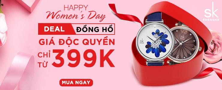 Deal độc quyền đồng hồ: Shengke- Giá chỉ từ 399K