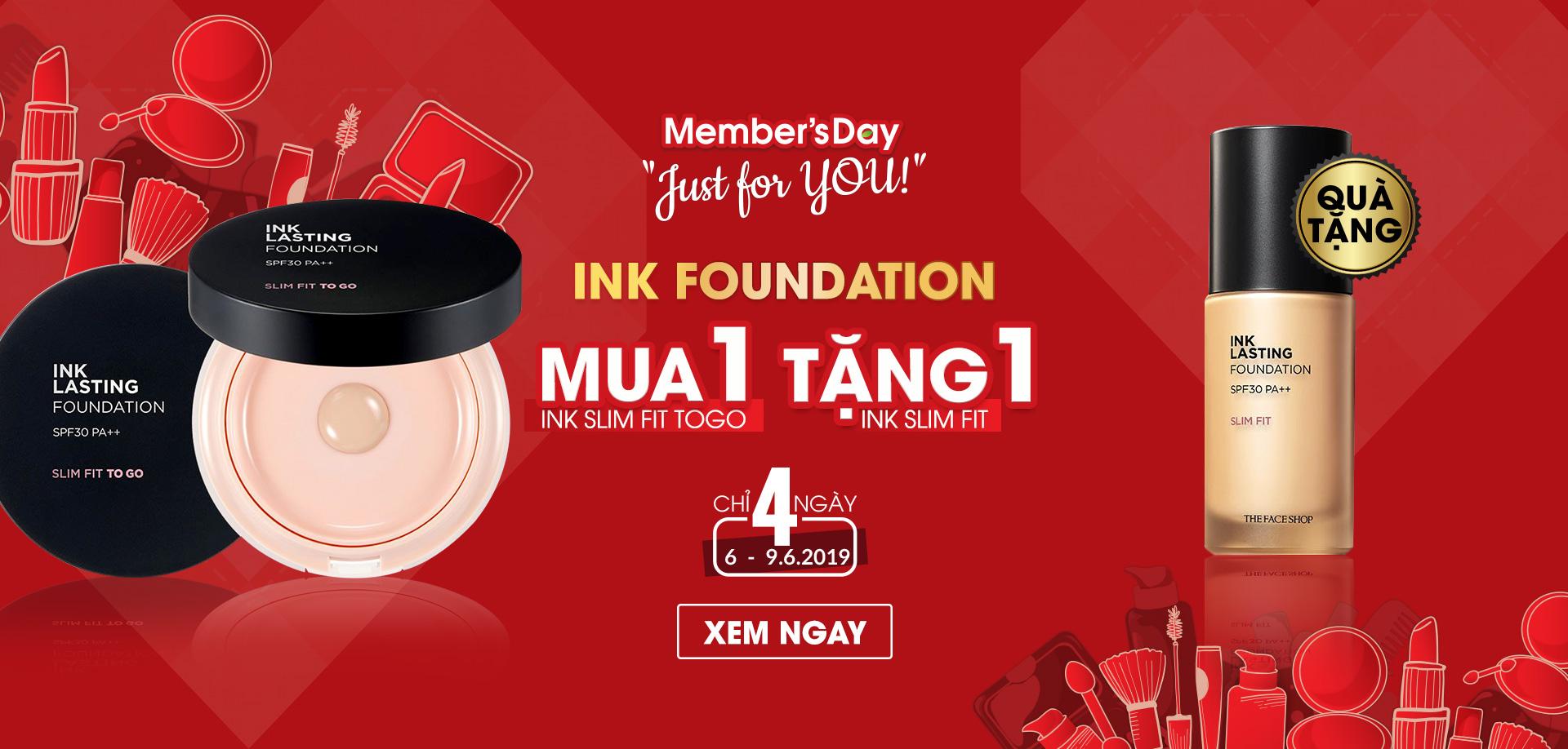MUA INK FOUNDATION NHẬN NGAY QUÀ TẶNG #599k
