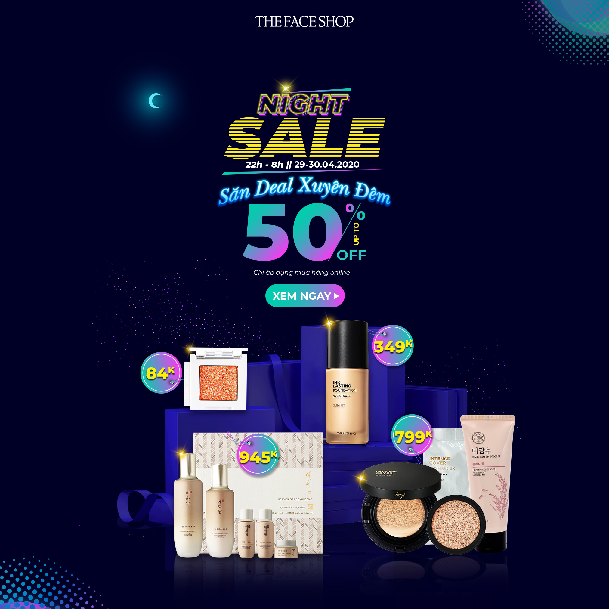 [THE FACESHOP] - NIGHT SALE 22h - 08h 29-30.04