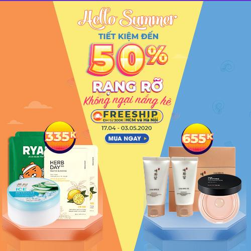 HELLO SUMMER - KHUYẾN MÃI LÊN ĐẾN 50%
