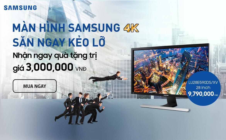 Mua màn hình Samsung 4K - Nhận ngay quà tặng trị giá 3 Triệu
