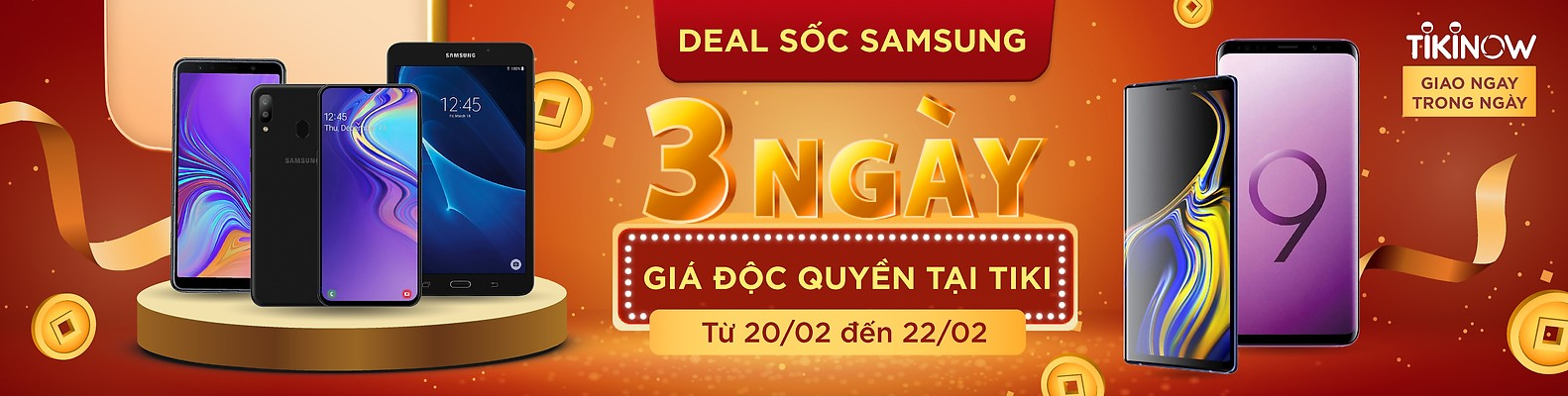 Deal sốc Samsung 3 ngày vàng