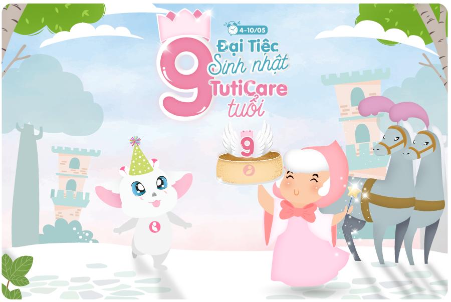 Đại tiệc sinh nhật mừng TutiCare tròn 9 tuổi - Sale up to 50%++