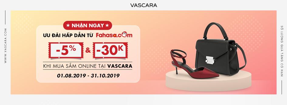 Nhận ngay ưu đãi hấp dẫn từ Fahasa khi mua sắm online tại Vascara