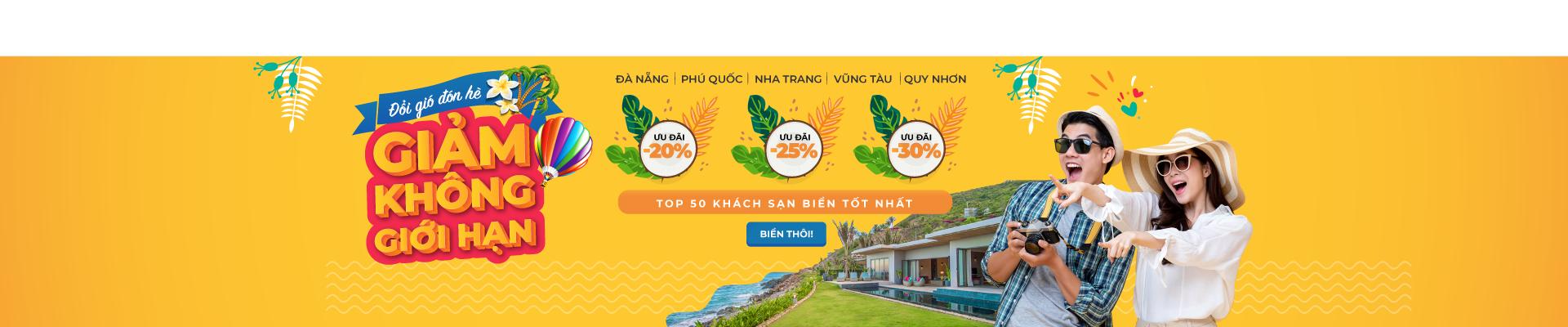Đổi gió đón hè – Siêu giảm giá 30% không giới hạn với top khách sạn biển giá tốt nhất