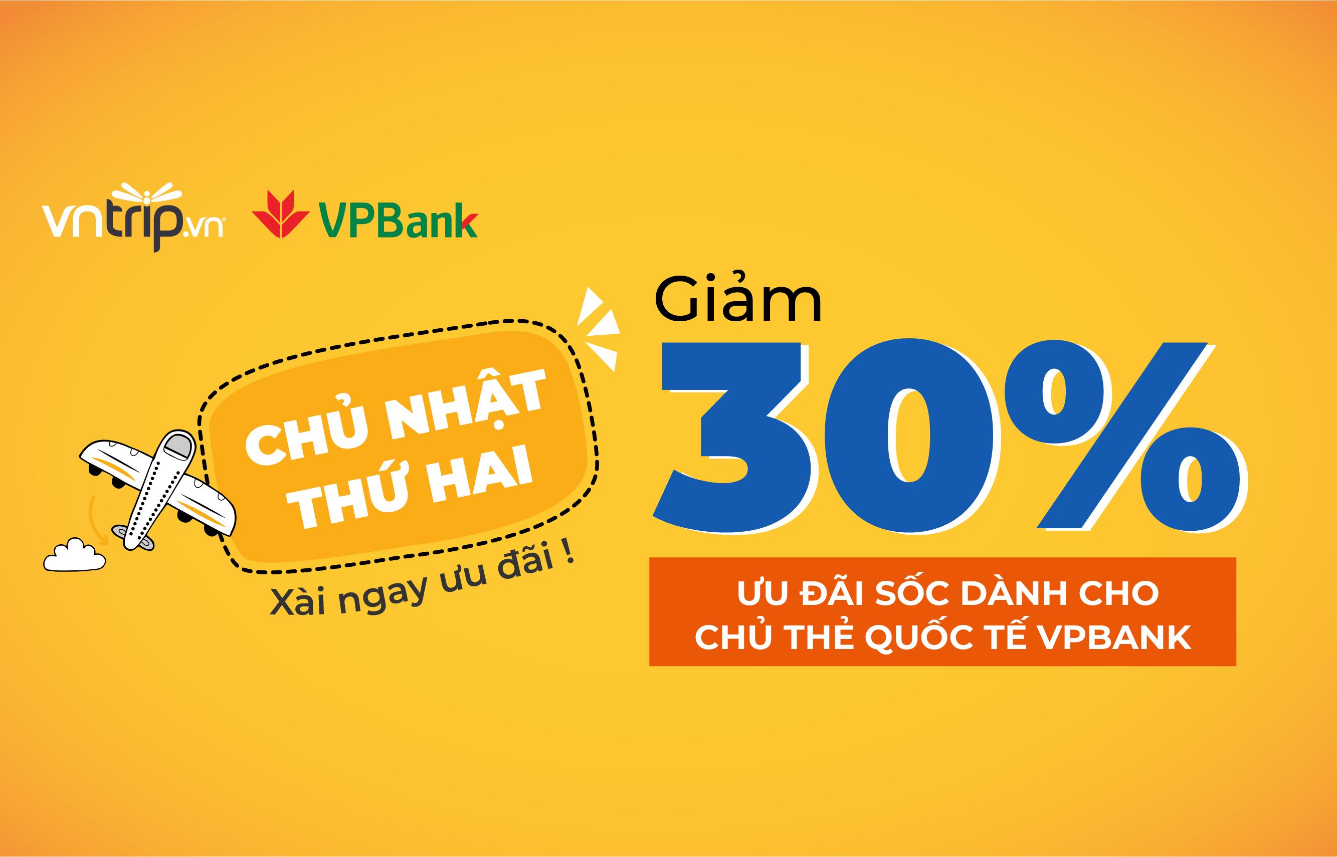 Đặt phòng quá dễ – Giảm ngay 30% cho chủ thẻ quốc tế VPBANK