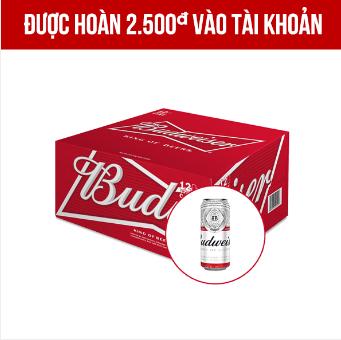 Giảm giá Budweiser thùng 12 lon 500ml