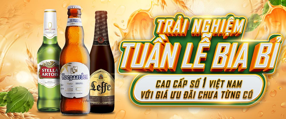 Mua bia Bỉ được tặng quà và giảm giá