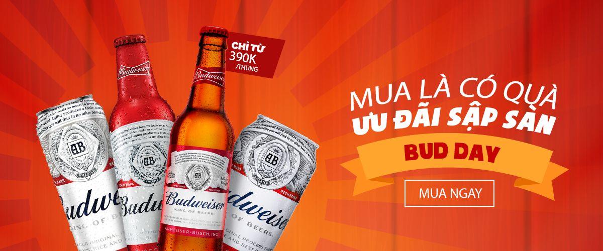 Budweiser Day: Giảm giá cho các sản phẩm của Budweiser
