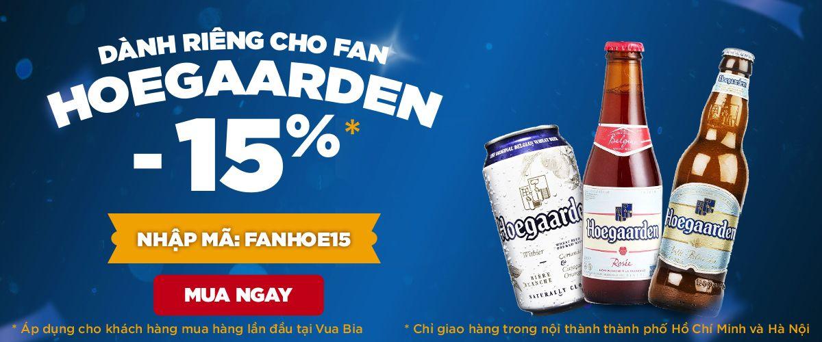 Fan Hoegaarden: Giảm 15% cho tất cả các sản phẩm của Hoegaarden