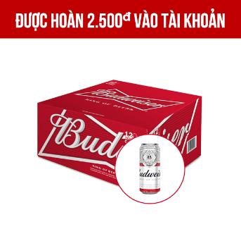 Giảm 70.000VNĐ khi mua Budweiser thùng 12 lon 500ml