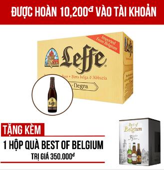 Leffe Brune thùng 24 chai 330ml -  Giảm 25.000VNĐ, giá gốc 320.000VNĐ giảm còn 295.000VNĐ