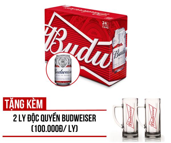 Khuyến mãi khi mua Budweiser thùng 24 lon 330ml