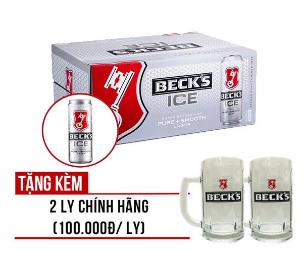 Khuyến mãi khi mua Beck's Ice thùng 24 lon 330ml