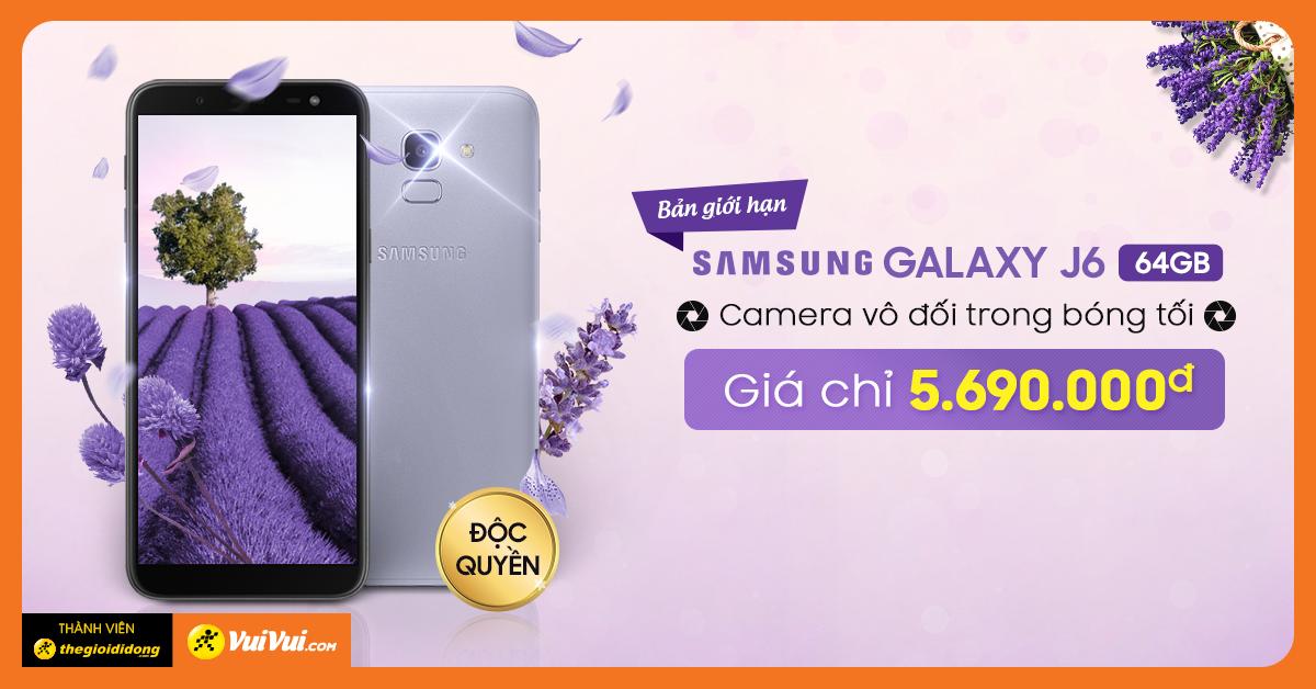 Galaxy J6 64GB - Giá chỉ 5.690.000₫