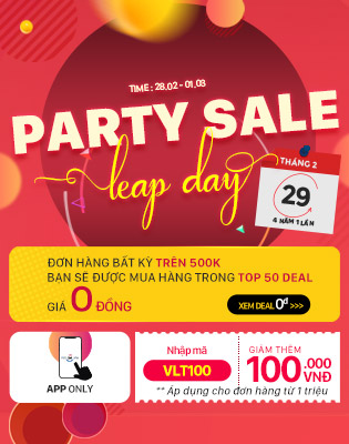 Party sale Leap Day - Khuyến mãi cực hấp dẫn