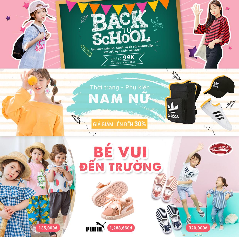 Back To School hàng nhập - Giảm 50%