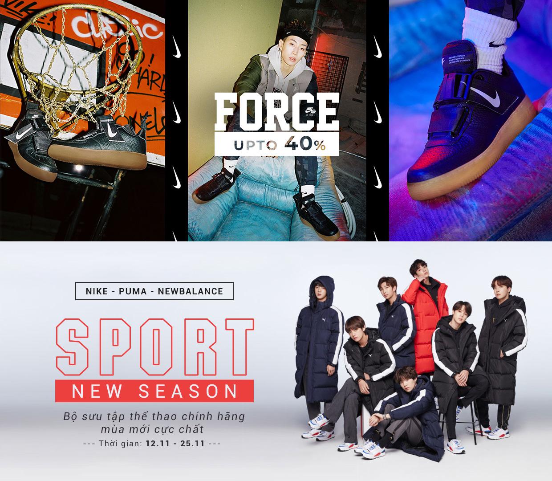 Giày thể thao Puma/ Nike giảm giá 40%