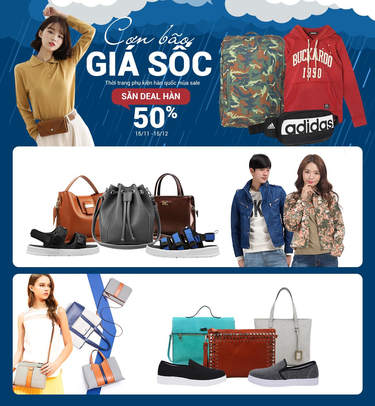 Sale cuối mùa hàng nhập Hàn Quốc - Giảm 50%