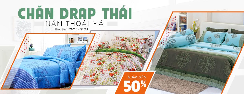 Chăn drap Thái - Nằm thoải mái