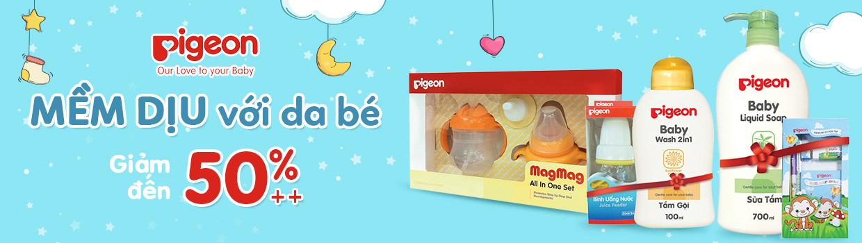 PIGEON mềm dịu da bé - Giảm 50%