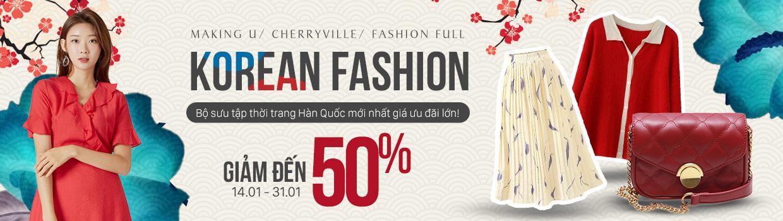 Thời trang nữ Korea - Giảm đến 50%