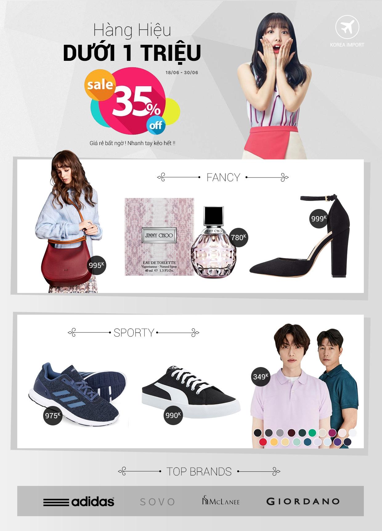Thời trang Hàn Quốc - Hàng hiệu dưới 1 triệu