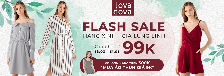 Thời trang Lovadova khuyến mãi giảm giá