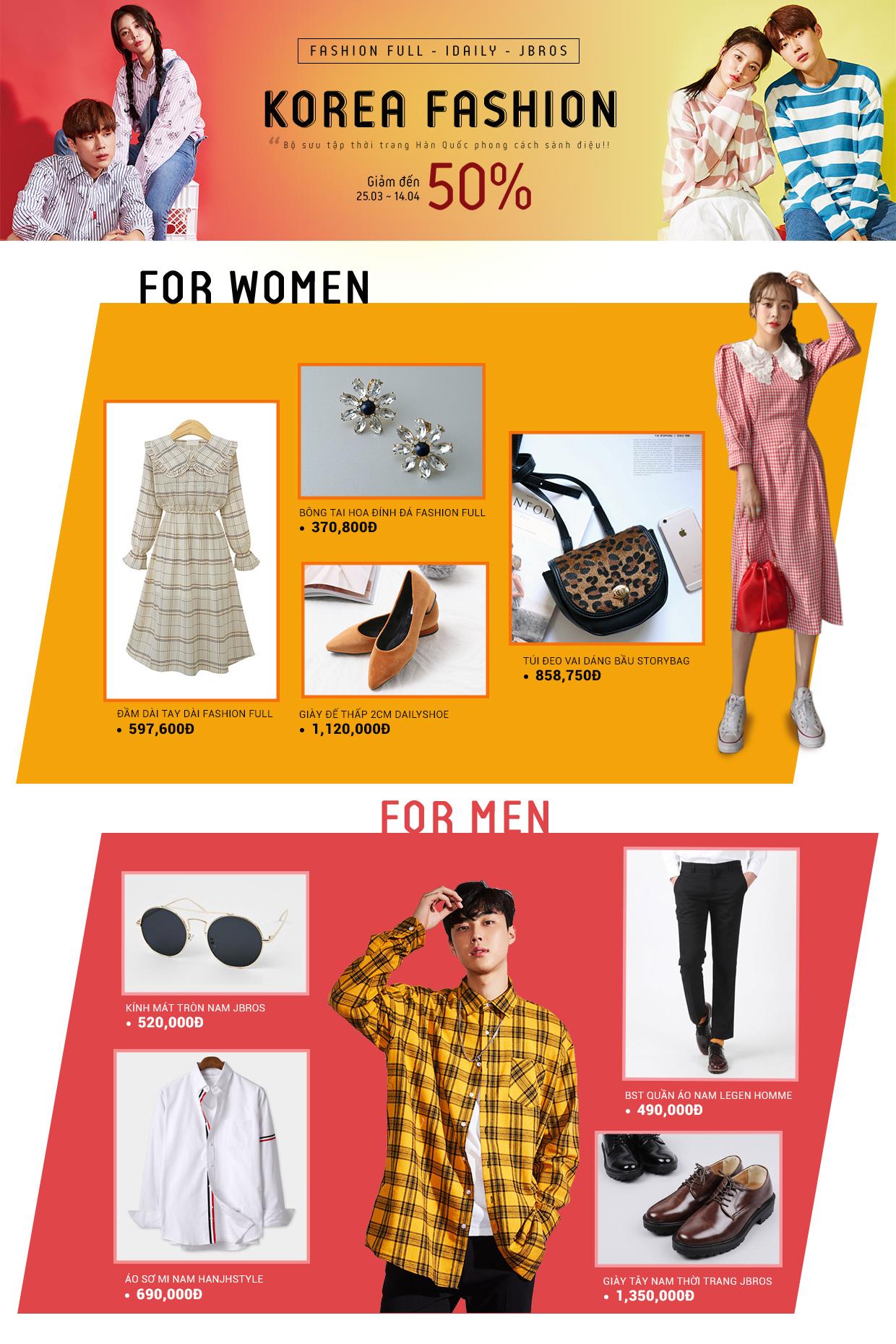 Thời trang Hàn Quốc sale lớn - giảm 50%