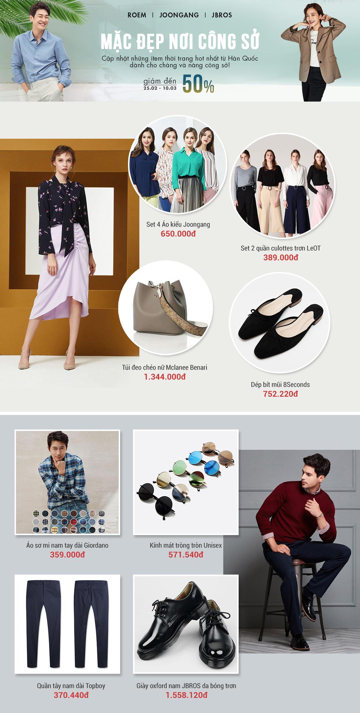 Thời trang nam nữ công sở Hàn Quốc