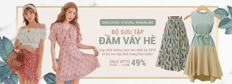 Bộ sưu tập đầm váy hè nhập 100% từ Hàn - giảm 50%